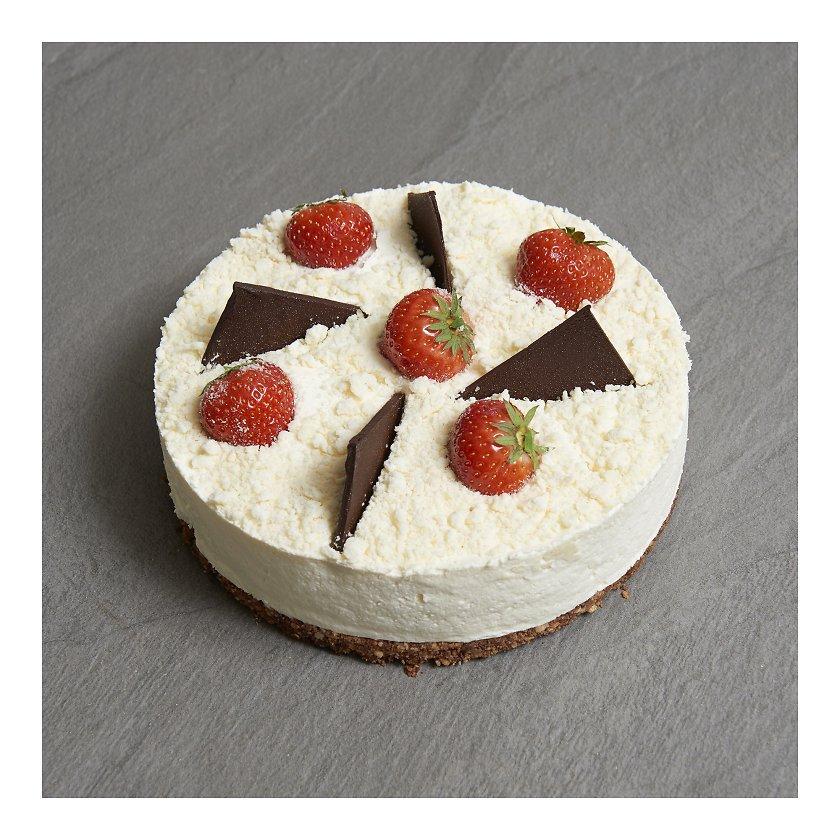 aec2f0c8d72 Valge šokolaadi toorjuustu tort 1kg Chez André - Tordid - Peolauatooted  (ettetellimine) - Gurmee