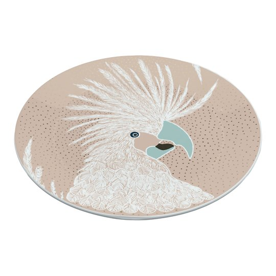 Roosamanna värvi portselantaldrik linnuga 19cm