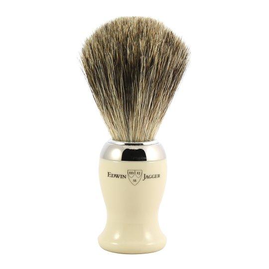 Pure Badger raseerimispintsel valge/kroomitud